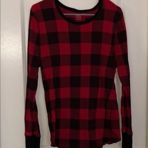 Old Navy Tops - Red&Black buffalo plaid long sleeve top.